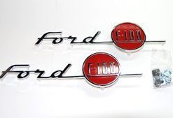 """55 Hood Emblem Set - """"Ford F100"""""""