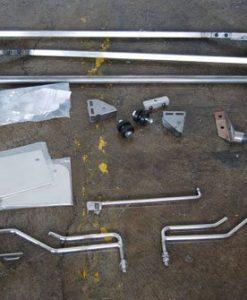 53-56 Reverse Flip Hood Tilt Kit - Steel
