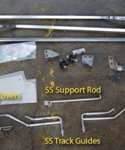 53-56 Reverse Flip Hood Tilt Kit - Stainless Steel