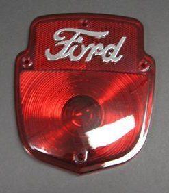 53-66 Lens - Taillight - Stepside - w/ chrome Ford Script