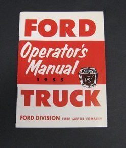 1955 FORD TRUCK OWNERS MANUAL