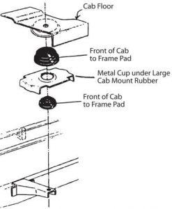 53-56 Lower Front Cab Mount Retainer - PR