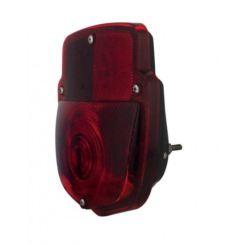 53-56 ford taillight assembly - lh - black body