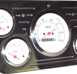 53-55 Ford Polished Aluminum Dash Panel - 5 Holes