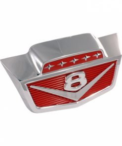 """61 - 66 Ford Truck Hood Front Emblem - """"V8"""" - F100 to F1100 With clips"""
