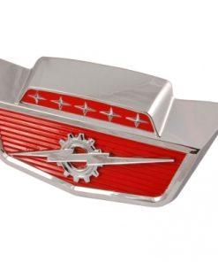 "61 - 66 Ford Truck Hood Front Emblem - ""5 Star w/Gear & Lightning Bolt"" - F100 to F1100"