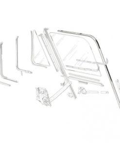 61 - 66 Ford Truck Door Glass Run Channel