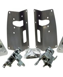 53-56 Ford Truck Bear Claw Latch Kit - Steel - Stock Handles - Bolt On