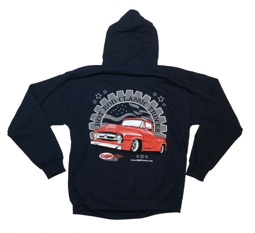 Hoodie - Navy Blue - Red 56 Ford Truck