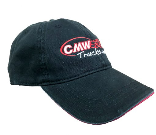 CMW Trucks Baseball Hat - Black with Red Trim - 2 color imprint